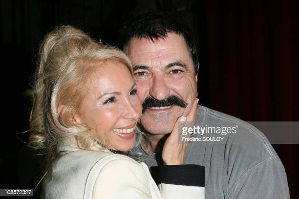 Jean-Marie Bigard and his wife Claudia in Paris, France on October 20, 2008.