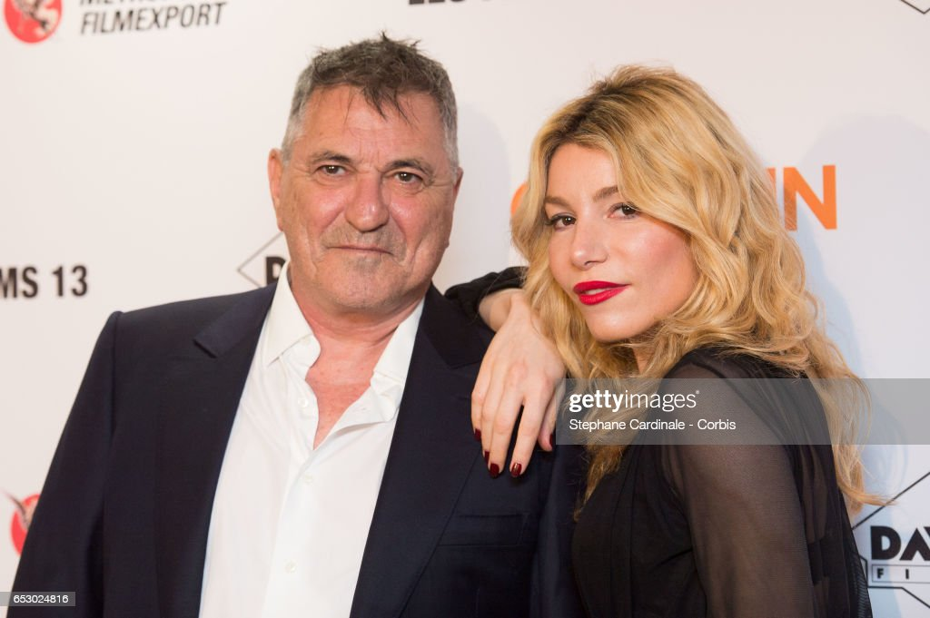 Jean-Marie Bigard and his wife Lola Marois attend the 'Chacun Sa vie' Paris Premiere at Cinema UGC Normandie on March 13, 2017 in Paris, France.