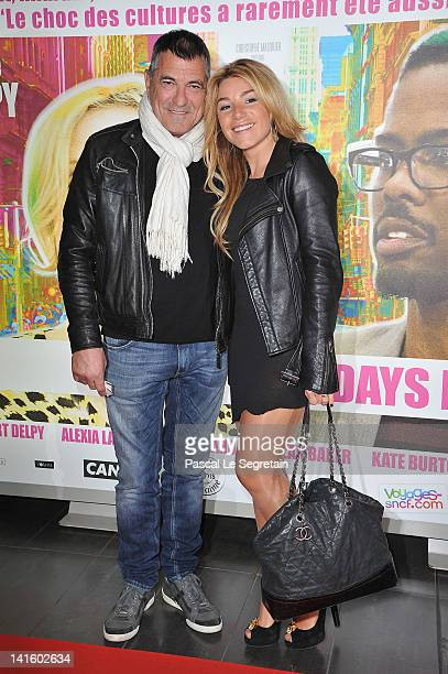 JeanMarie Bigard and Lola Marois attend '2 Days In New York' Paris Premiere at Mk2 Bibliotheque on March 19 2012 in Paris France