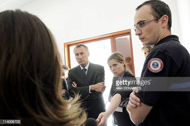 JeanMarie Bockel visits the penitentiary establishment for minor of Orvault In France On May 27 2010JeanMarie Bockel secretary of the State for...