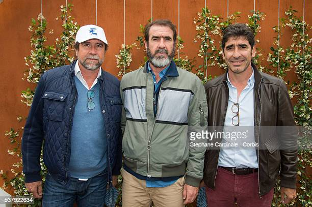 JeanMarie Cantona Eric Cantona and Joel Cantona pose during day thirteen at Roland Garros on June 3 2016 in Paris France