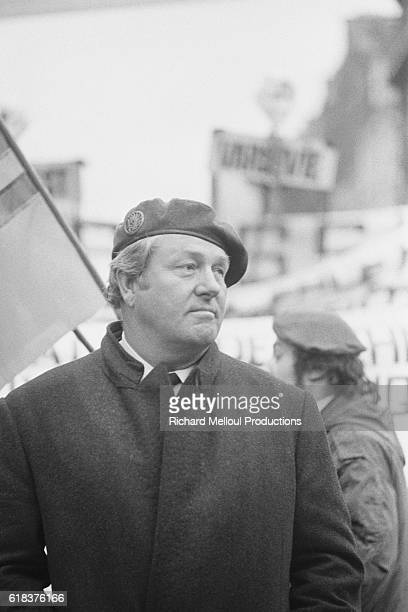 JeanMarie Le Pen leader of the Front National attends a proSouth Vietnam demonstration in Paris The demonstration organized by the FN comes just...