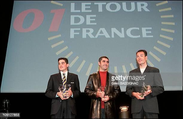 Jean-Marie Leblanc Unveils The Official 89Th Tour De France Route On October 25Th France. Oscar Sevilla, Laurent Jalabert, Erik Zabel