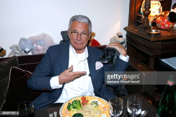 JeanMarie Perier attends the Dinner at Waknine Restaurant after Sylvie Vartan performed at Le Grand Rex on March 16 2018 in Paris France