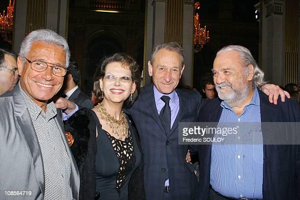 Jean-Marie Perrier, Claudia Cardinale and Bertrand Delanoel in Paris, France on May 10, 2007.