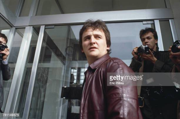 JeanMarie Villemin father of murdered four yearold boy Grégory Villemin leaving the Roseraie clinic in Épinal where his wife is being treated Vosges...
