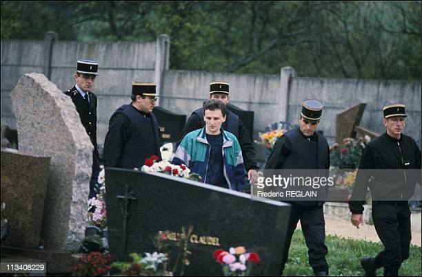 JeanMarie Villemin on the grave of his son Gregory On October 16th 1987 In France