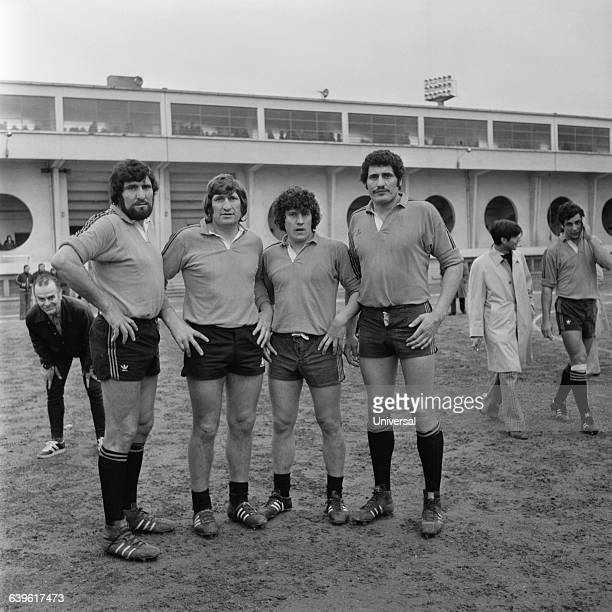 JeanMarie Walter Guy and Claude Spanghero play together for the rugby team of Narbonne