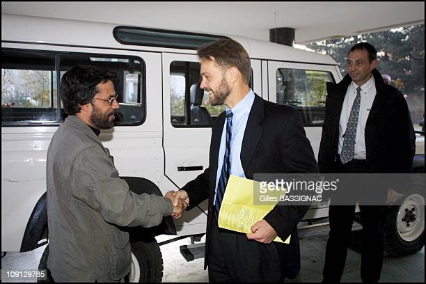 JeanMarin Schuh French Charge D'Affaires For Afghanistan Returns To French Embassy In Kabul On November 25Th 2001 In Kabul Afghanistan Meeting With...