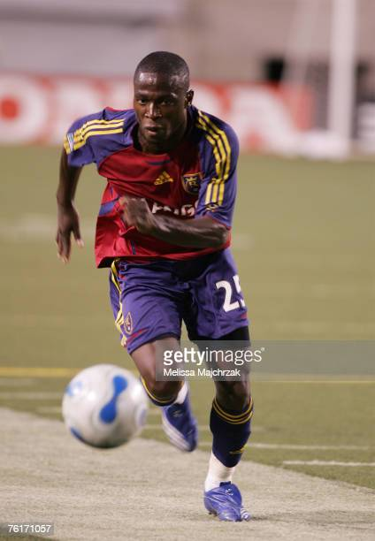 Jean-Martial Kipre of the Real Salt Lake goes after the ball against the Chicago Fire at Rice-Eccles Stadium on August 18, 2007 in Salt Lake City,...