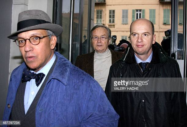 JeanMaurice Agnelet and his lawyers JeanPierre VersiniCampinchi and François SaintPierre arrive 24 November 2006 to face court in the French Riviera...