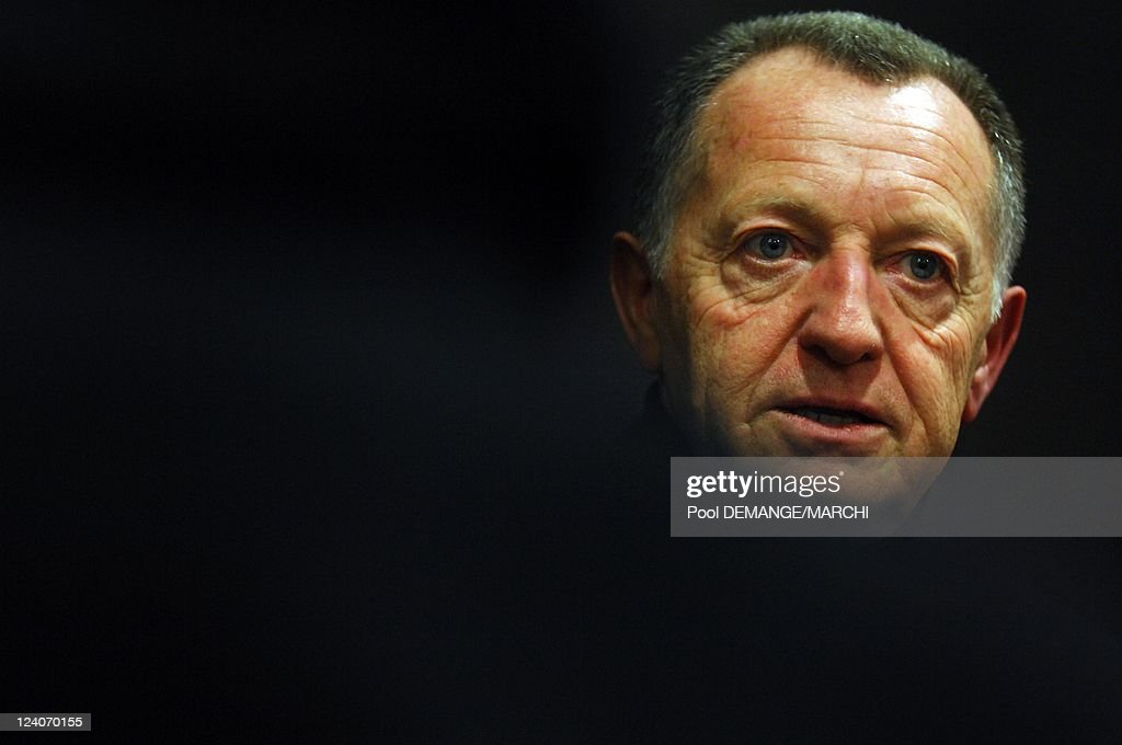 Jean-Michel Aulas, President Of The Olympique Lyonnais (Ol) In Nancy, France On December 22, 2007. : News Photo