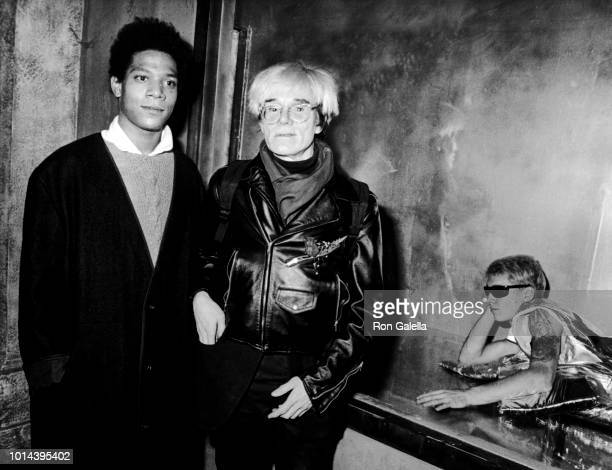 JeanMichel Basquiat and Andy Warhol attend Gifts For The City Of New York Benefit for Brooklyn Academy of Music on November 7 1984 at Area Nightclub...
