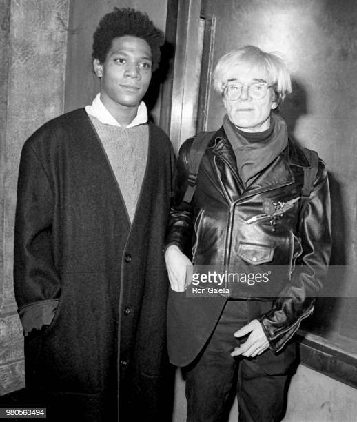 JeanMichel Basquiat and Andy Warhol attend Gifts For The City Of New York Benefit on November 7 1984 at Area Nightclub in New York City