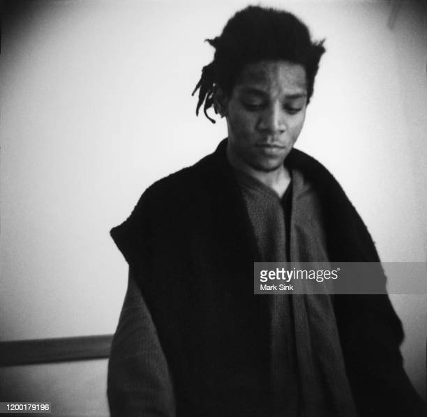 JeanMichel Basquiat at the Vreg Baghoomian Gallery September 5 1988 in New York New York