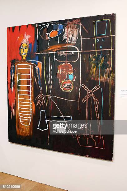 JeanMichel Basquiat painting Air Power is on display at the David Bowie Collector Media Preview at Sotheby's on September 26 2016 in New York City
