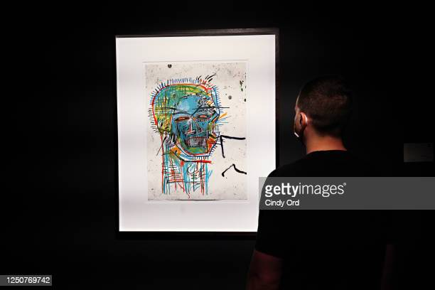 Jean-Michel Basquiat's Untitled is exhibited as Sotheby's NY previews highlights of the Evening Sale at Sotheby's during the coronavirus pandemic on...