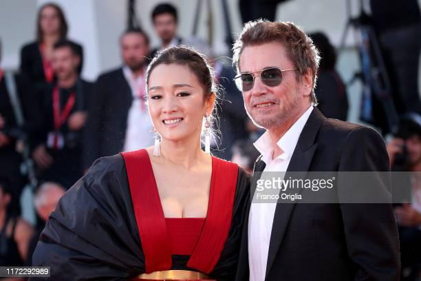 JeanMichel Jarre and Gong Li walk the red carpet ahead of the Lan Xin Da Ju Yuan screening during the 76th Venice Film Festival at Sala Grande on...