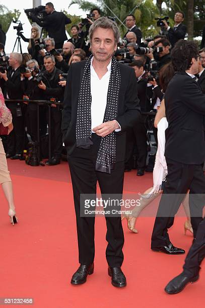 JeanMichel Jarre attends the Slack Bay premiere during the 69th annual Cannes Film Festival at the Palais des Festivals on May 13 2016 in Cannes...