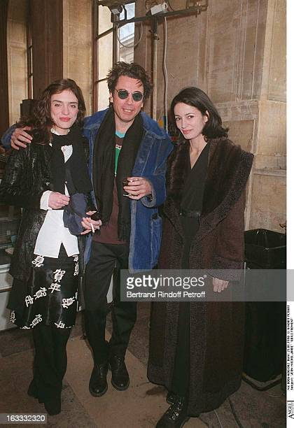 JeanMichel Jarre Odile Froment Emilie at theKenzo Catwalk Show Menwear Collection Autumn / Winter 1998 /99