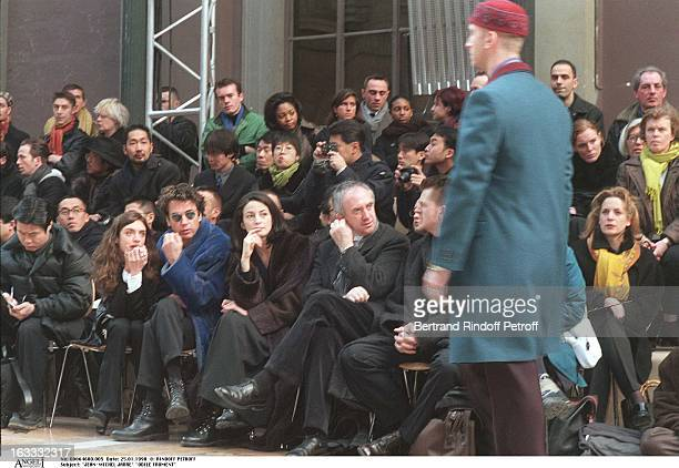 JeanMichel Jarre Odile Froment Jonathan Pryce at theKenzo Catwalk Show Menwear Collection Autumn / Winter 1998 /99
