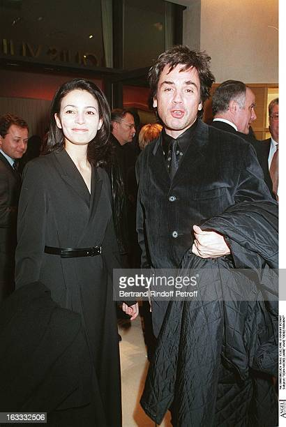 JeanMichel Jarre Odile Fromont at theOpening Of The Louis Vuitton Boutique At The ChampsElysees In Paris