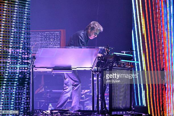 JeanMichel Jarre performs at the O2 Arena during his Electronica Tour on October 7 2016 in London England