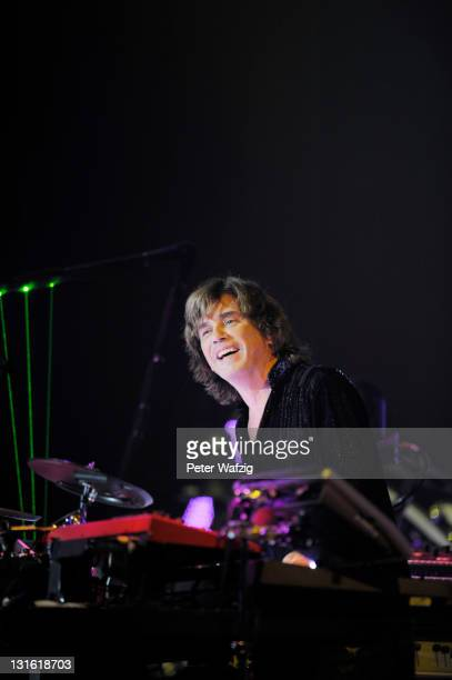JeanMichel Jarre performs on stage at the LanxessArena on November 5 2011 in Cologne Germany