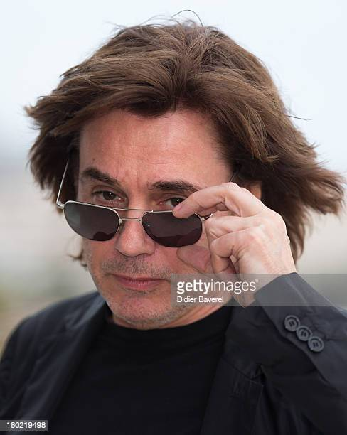 JeanMichel Jarre poses during a photocall on 47th Midem Edition at at Palais des Festivals on January 26 2013 in Cannes France