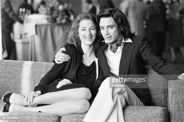 JeanMichel Jarre with his wife Charlotte Rampling at a photocall and reception at the Intercontinental Hotel Hyde Park 30th November 1978