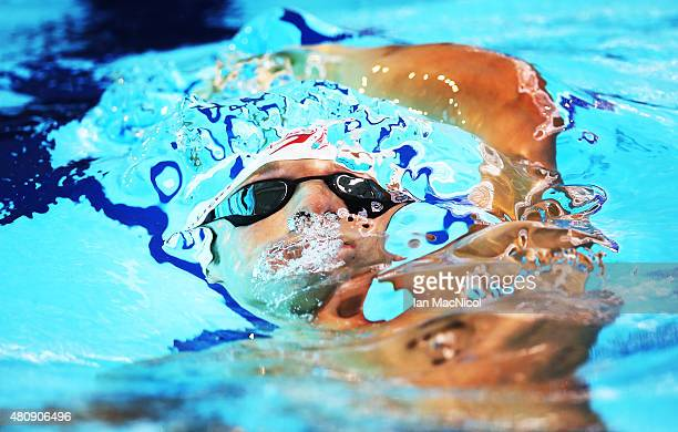 JeanMichel Lavalliere of Canada competes in the heats of the Men's 200m IM SM7 during Day Four of The IPC Swimming World Championships at Tollcross...