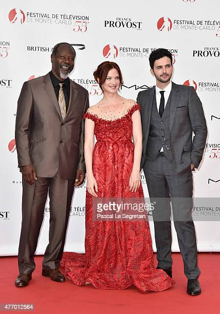 JeanMichel Martial Odile Vuillemin and Raphael Ferret arrive to attend the opening ceremony of the 55th Monte Carlo TV Festival on June 13 2015 in...