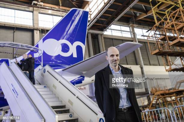 JeanMichel Mathieu chief executive officer of Joon poses for a photograph as Air FranceKLM Group launches their lowcost carrier in Paris France on...