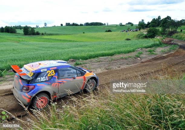 JeanMichel Raoux FRA Laurent Magat FRA during the WRC Orlen 74 Rally Poland on July 01 2017 in Mikolajki Poland