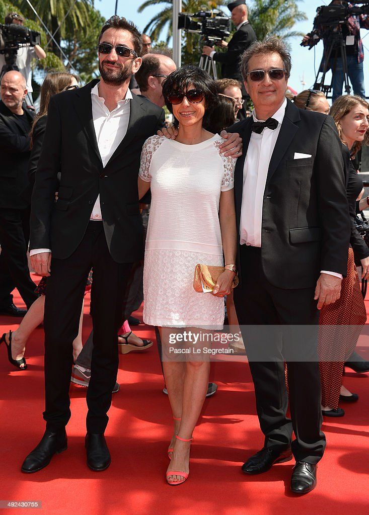 Jean-Michel Rey (R) and guests attend the 'Futatsume No Mado' premiere during the 67th Annual Cannes Film Festival on May 20, 2014 in Cannes, France.