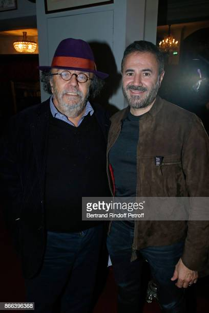 JeanMichel Ribes and Jose Garcia attend the 'Novecento' 200th Performance at Theatre Montparnasse on October 25 2017 in Paris France