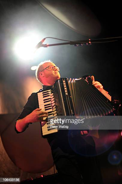 JeanMichel Tourette of Wir Sind Helden performs on stage at the EWerk on October 31 2010 in Cologne Germany