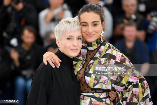Jeanne Added and Camelia Jordana attend the photocall for Haut Les Filles during the 72nd annual Cannes Film Festival on May 21 2019 in Cannes France