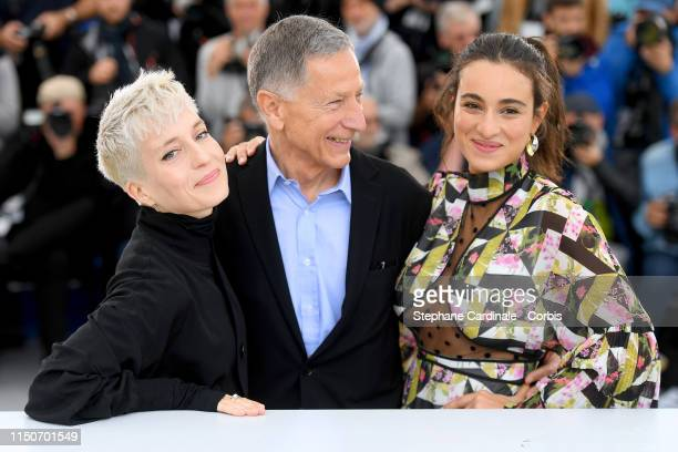 Jeanne Added Francois Armanet and Camelia Jordana attend the photocall for Haut Les Filles during the 72nd annual Cannes Film Festival on May 21 2019...