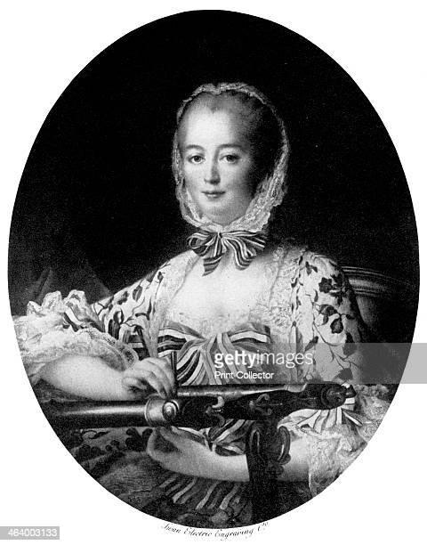 Jeanne Antoinette Poisson Marquise de Pompadour 1764 Madame de Pompadour was the mistress of Louis XV of France This picture is a copy of a detail...