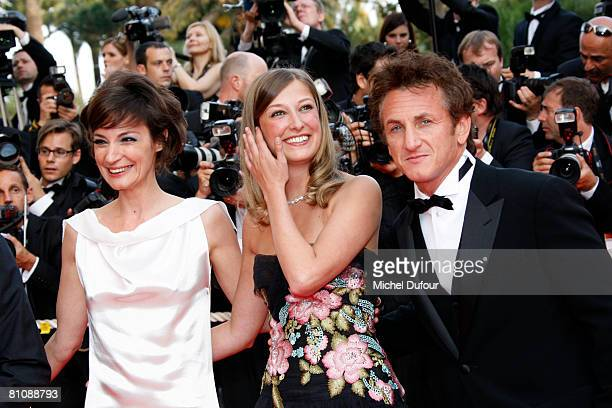 Jeanne Balibar, Alexandra Maria Lara and Sean Penn arrive at the premiere of ''Blindness'' at the Palais des Festivals during the 61st International...