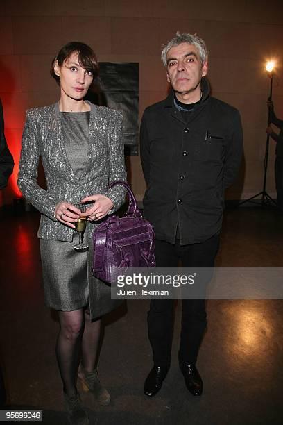 Jeanne Balibar and Pedro Costa attend 'Ne Change Rien' Paris premiere at la Cinematheque Francaise on January 11 2010 in Paris France