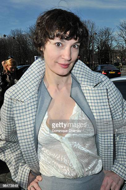 Jeanne Balibar attends the Balenciaga Ready to Wear show as part of the Paris Womenswear Fashion Week Fall/Winter 2011 at Hotel Crillon on March 4...