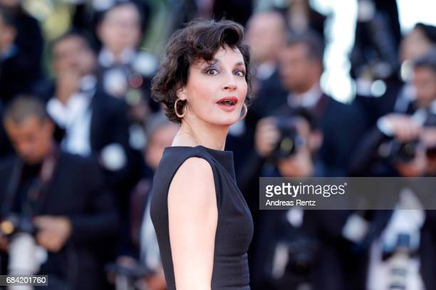 Jeanne Balibar attends the 'Ismael's Ghosts ' screening and Opening Gala during the 70th annual Cannes Film Festival at Palais des Festivals on May...