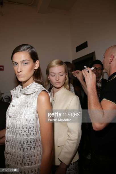 Jeanne Bouchard and Annabella Barber attend Isabella Tonchi Spring 2011 Fashion Show at Milk Studios on September 11 2010 in New York City