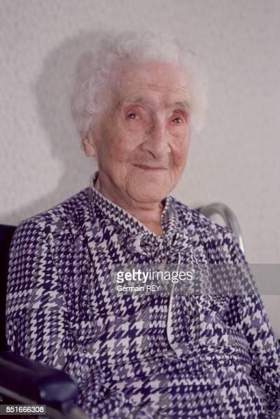 Jeanne Calment fête ses 116 ans le 21 février 1991 à Arles France