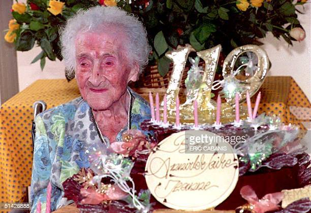 Jeanne Calment the world's oldest woman according to the Guinness Book of Records for the past three years celebrates her 119th birthday 21 February...