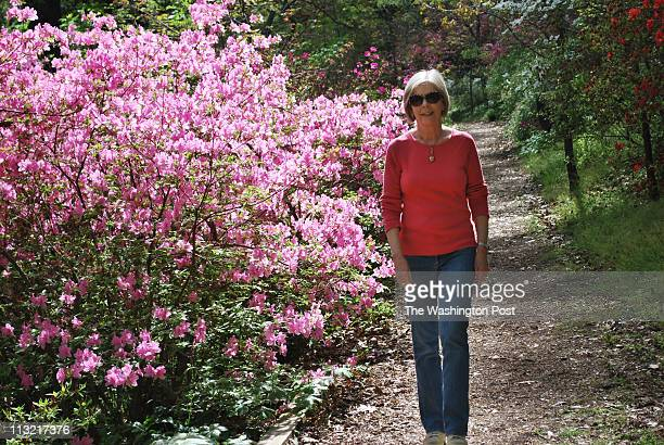 Jeanne Connelly with the azaleas at the National Arboretum