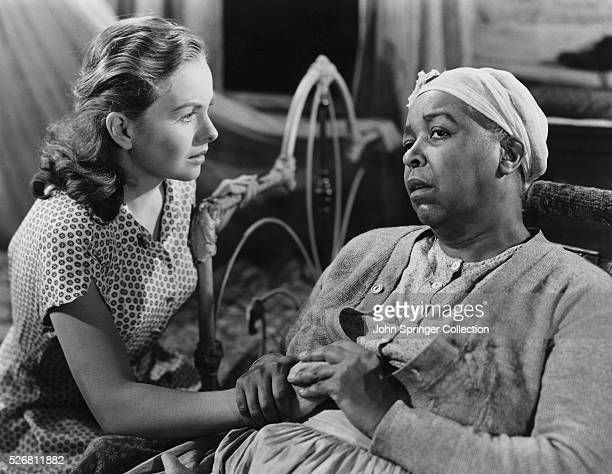 Jeanne Crain as Patricia 'Pinky' Johnson and Ethel Waters as Granny in their roles for the 1949 drama Pinky
