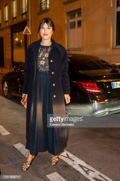 Jeanne Damas arrives at Sidaction Gala Dinner 2020 At Pavillon Cambon on January 23, 2020 in Paris, France.